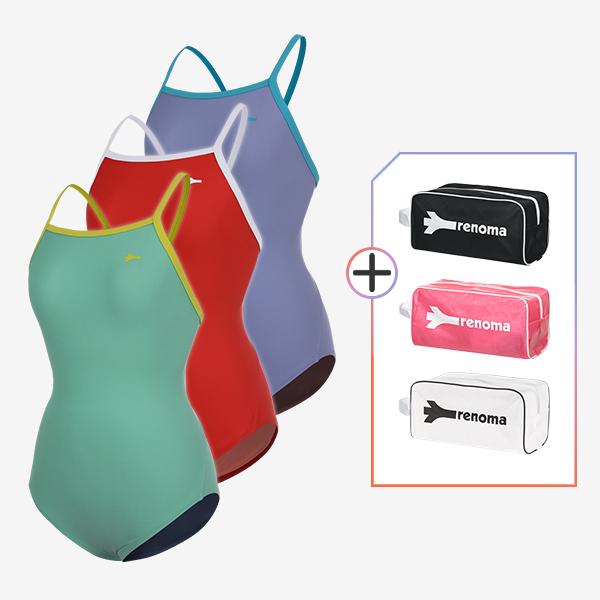 여성 실내수영복 및 전용가방 2종세트_LS20003SET3
