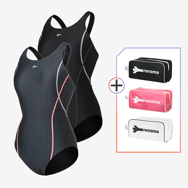 여성 실내수영복수영복 전용가방 2종세트_LS20802SET3