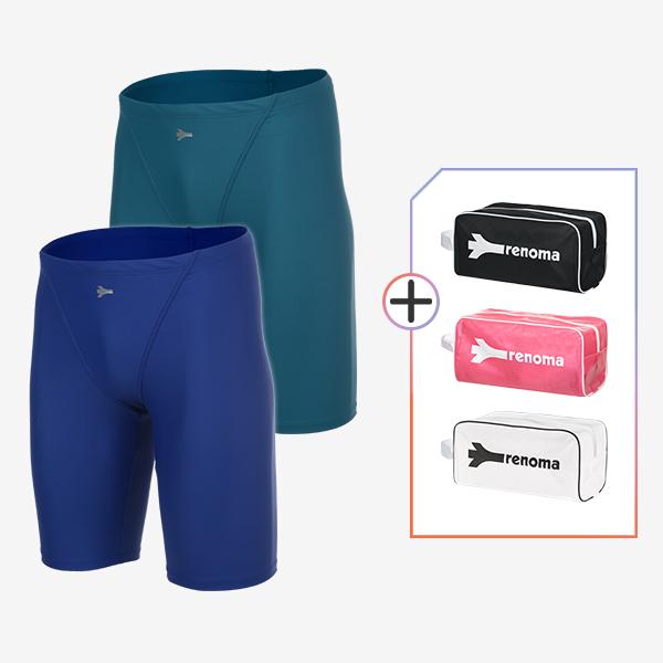 남성 실내수영복 및 전용가방 2종세트_MS20267SET3