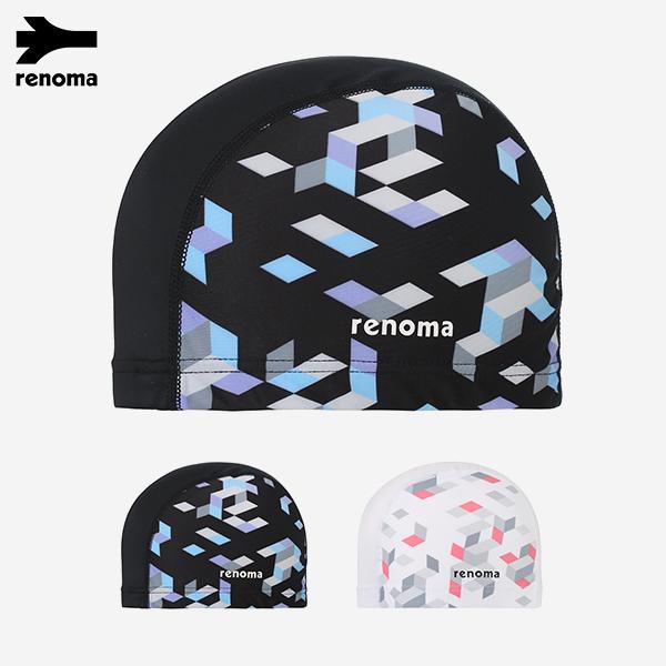 [패밀리세일] 3D 사각 패턴 스판 수영모자 (택1)_RO-RC18201