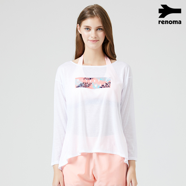여성 비치 커버업 티셔츠_RN-TS18369