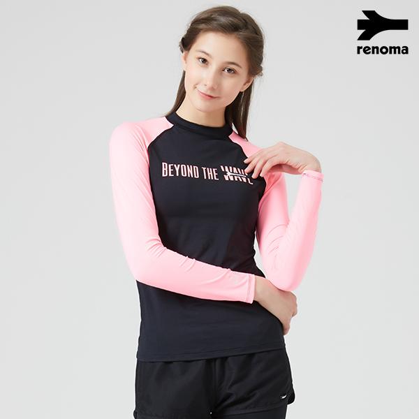 [온라인전용] 여성 비치 레터링 래쉬가드 TOP (택1)_RN-TS18503