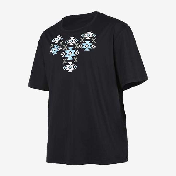 남성 비치 유니섹스 엠브로이드 오버핏 티셔츠_RN-TS19985Q