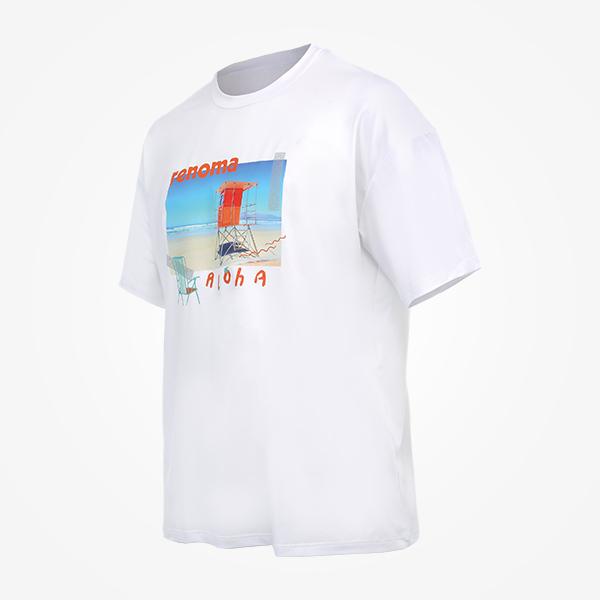 남성 썬비치 오버핏 숏슬리브 티셔츠_RN-TS20309AC